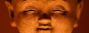 buddha gezicht oranje - kopie